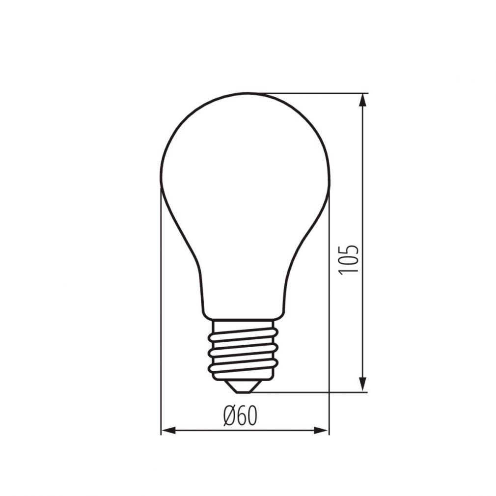 7W E27 warmweiss LED Retro Filament A60 Lampe Leuchtmittel Industrie Glühbirne - 3