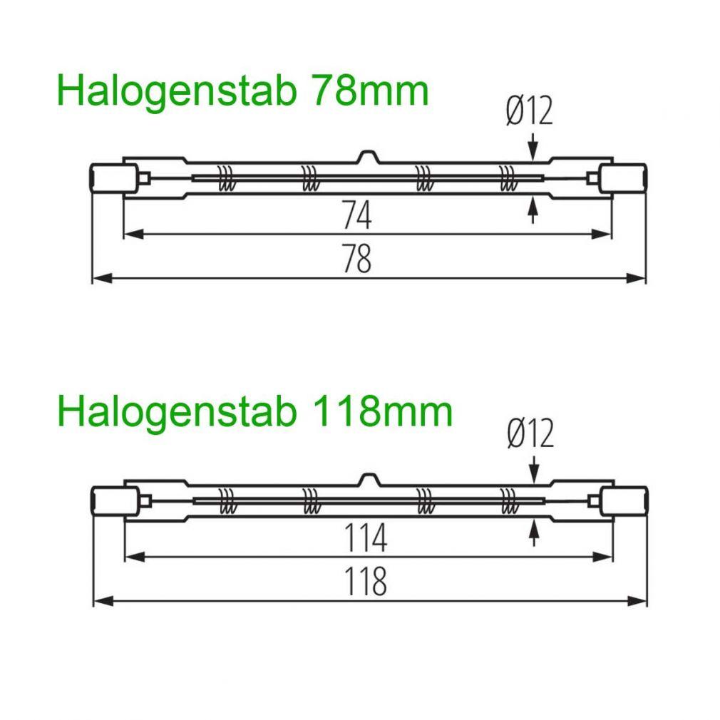 Halogenstab R7s 80W 78mm JStar - 3