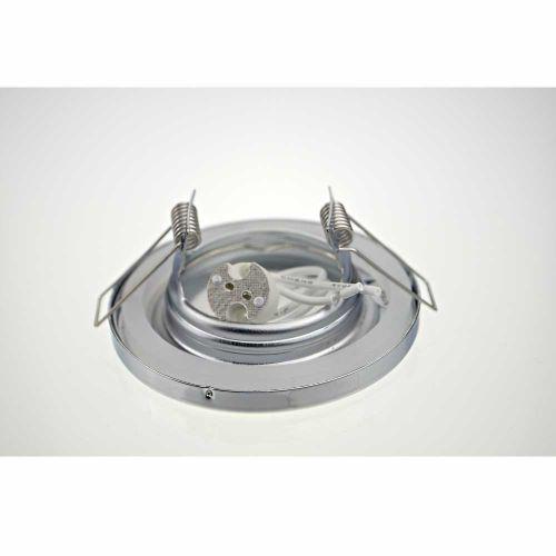 Halogen/LED Feuchtraum Einbaurahmen MR-16, Gx5,3 - Chrom - 4