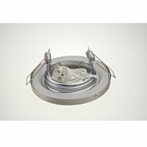 Halogen/LED Feuchtraum Einbaurahmen MR-16, Gx5,3 - satinnickel - 2