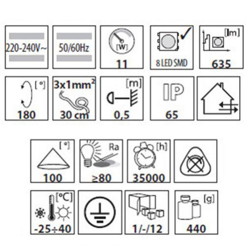 Extraflacher 11W LED Aussenstrahler warmweiss, LED Fluter, Strahler, Flutlicht - 6