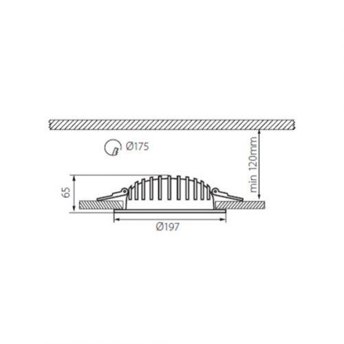 MCOB Einbau-Downlight 20W, LED Einbauleuchte - 2