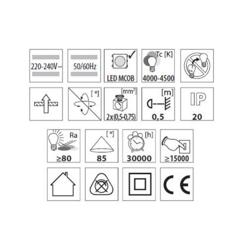 MCOB Einbau-Downlight 20W, LED Einbauleuchte - 3