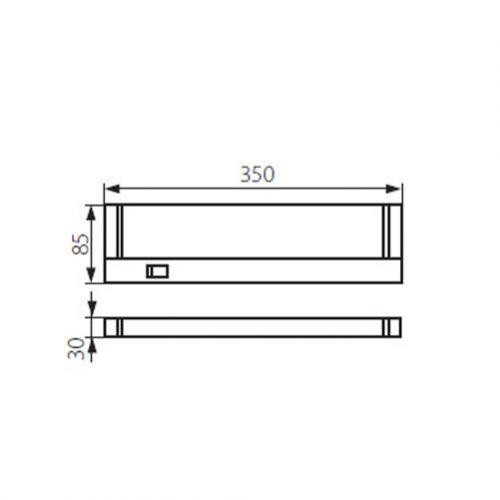 schwenkbare LED Unterbauleuchte, 4W/60LED - 6