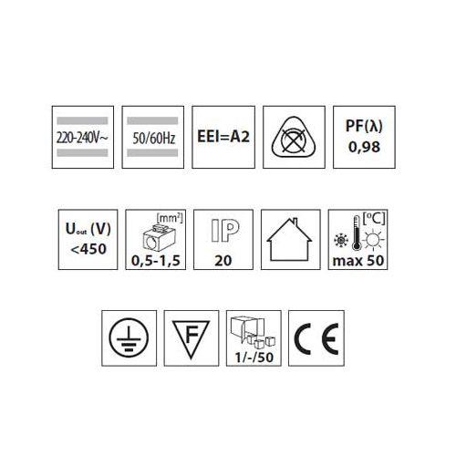 Elektronisches Vorschaltgerät, EVG für T8 1 x 18W  EEI = A2, Drossel, Zündgerät - 3