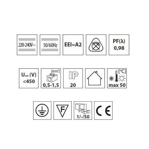 Elektronisches Vorschaltgerät, EVG für T8 1 x 36W  EEI = A2, Drossel, Zündgerät - 3