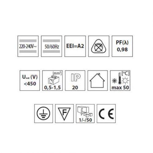 Elektronisches Vorschaltgerät, EVG für T5, 3-4x14W  EEI = A2, Drossel, Zündgerät - 4