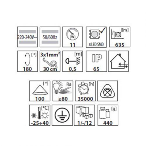 Extraflacher 11W LED Aussenstrahler neutralweiss, LED Fluter, Strahler,Flutlicht - 6
