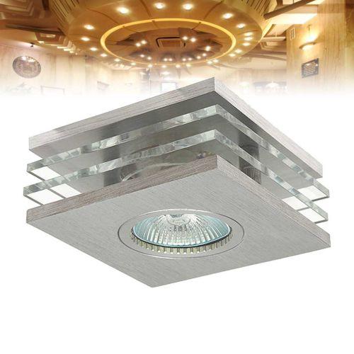 Deckeneinbaustrahler Glas  Aluminium quadratisch Lampe  -> Led Lampe Quadratisch