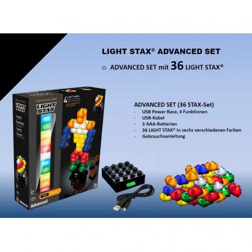 Light Stax, beleuchtete LED Bausteine Set, 36 Stück - 2