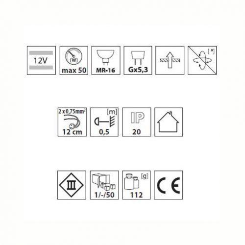 quadratischer Deckeneinbaustrahler für LED / Halogenlampen Sockel GX5.3 - 2