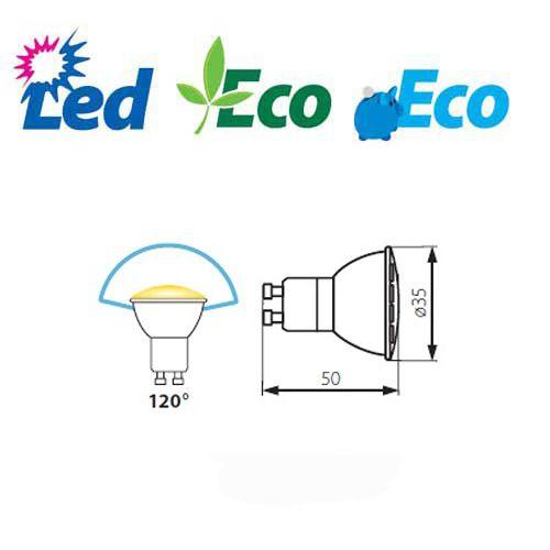 LED Lampe SMD LEDs, MR11, GU10, kaltweiss - 2
