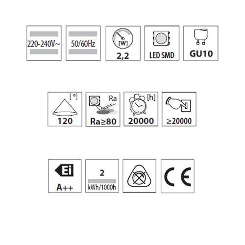 LED Lampe SMD LEDs, MR11, GU10, kaltweiss - 3