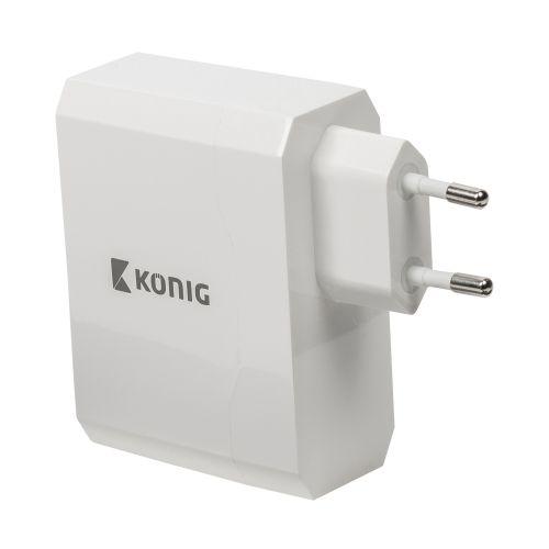 Universal USB Adapter mit zwei Anschlüssen, 2.4 A und 2.4 A, weiss - 2
