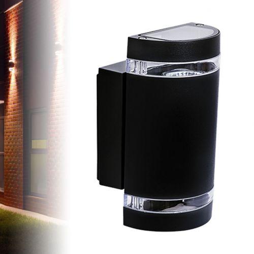 runde innen aussen Fassadenleuchte, Wandleuchte, Leuchte IP44, up/down, schwarz - 5