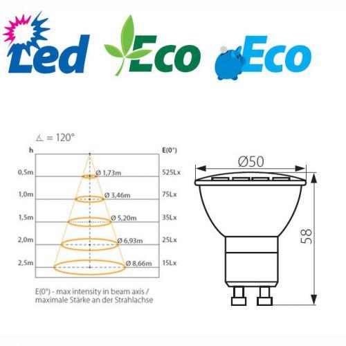 Wandleuchte mit LED Lampen 3,3Watt kaltweiss, Leuchte IP44, up/down, grau - 4