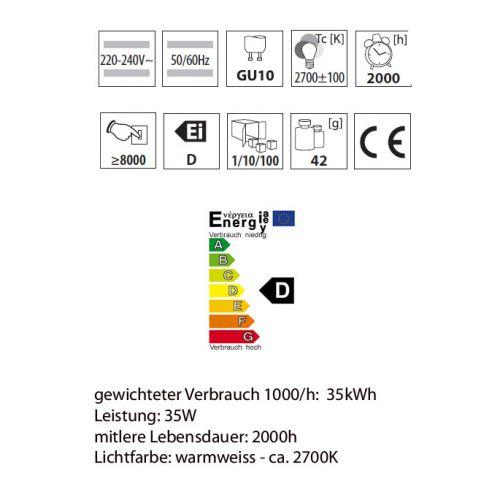 Wandleuchte mit Halogenlampen 35Watt, Leuchte IP44, up/down, rund, schwarz - 3