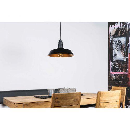 Pendelleuchte, Deckenleuchte Ø360mm, Leuchtenschirm aus Metall schwarz/goldkupfer - 3