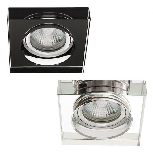 Einbaustrahler Einbauspot Glas Gx5,3 Einbauleuchte Deckeneinbauleuchte, schwarz - 6
