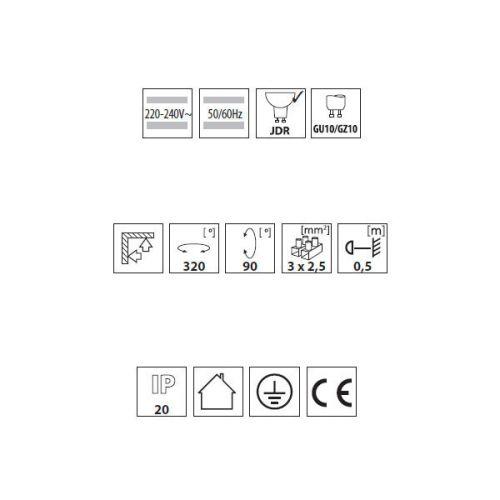 Wandleuchte  Deckenleuchte - 4 Lampig, kardanische Leuchte, Spotleuchte, Spot - 4