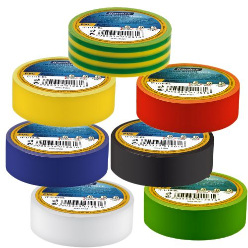 10er Pack Isolierband, Elektriker Klebeband, Isoband, Installationsklebeband rot 19mm x 20m EUR 0,05/m - 3
