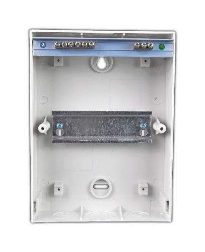 Verteiler mit DIN-Schiene Schaltschrank Verteilerschrank 6 Module 200x147x95 mm - 3