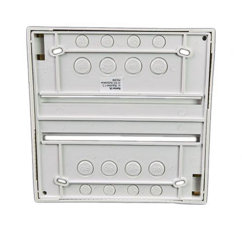 Verteiler mit DIN-Schiene Schaltschrank Schaltkasten 8 Module 160x160x65 mm - 2