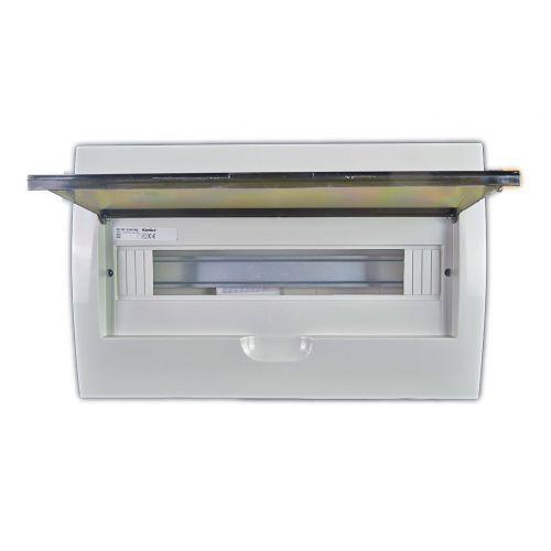 Verteiler mit DIN-Schiene Schaltkasten Verteilerschrank 18 Module 364x215x65 mm - 2