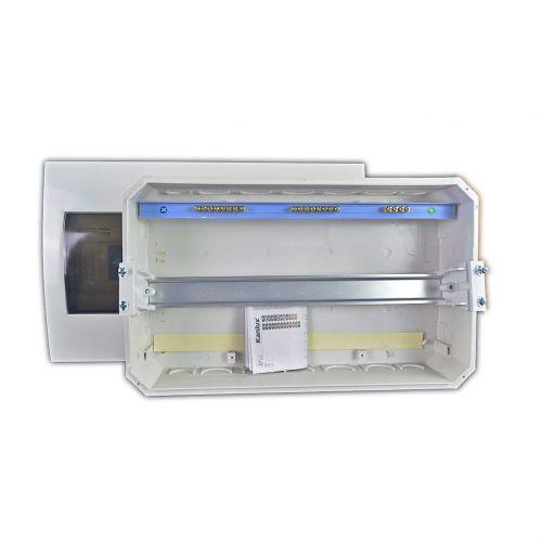 Verteiler mit DIN-Schiene Schaltkasten Verteilerschrank 18 Module 364x215x65 mm - 3