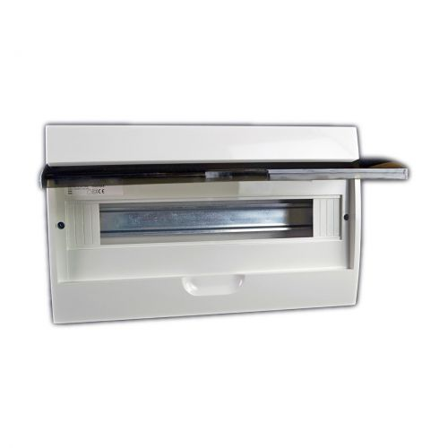 Verteiler mit DIN-Schiene Schaltkasten Verteilerschrank 18 Module 362x220x95 mm - 3