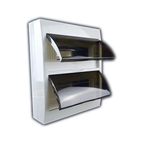 Verteiler mit DIN-Schiene Schaltkasten Verteilerschrank 24 Module 270x326x100 mm - 3