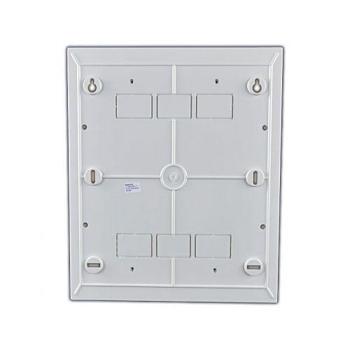 Verteiler mit DIN-Schiene Schaltkasten Verteilerschrank 24 Module 270x326x100 mm - 5