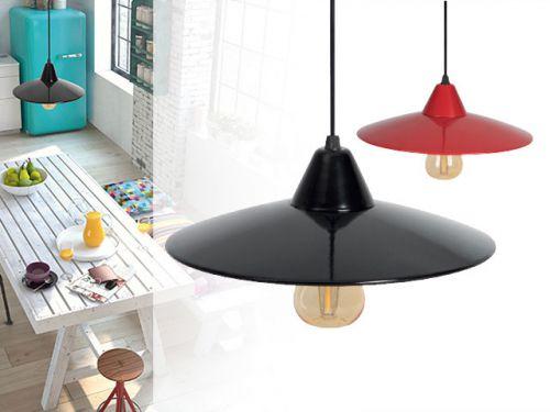 Deckenleuchte im Retro Design - schwarz, Vintage Leuchte - 2