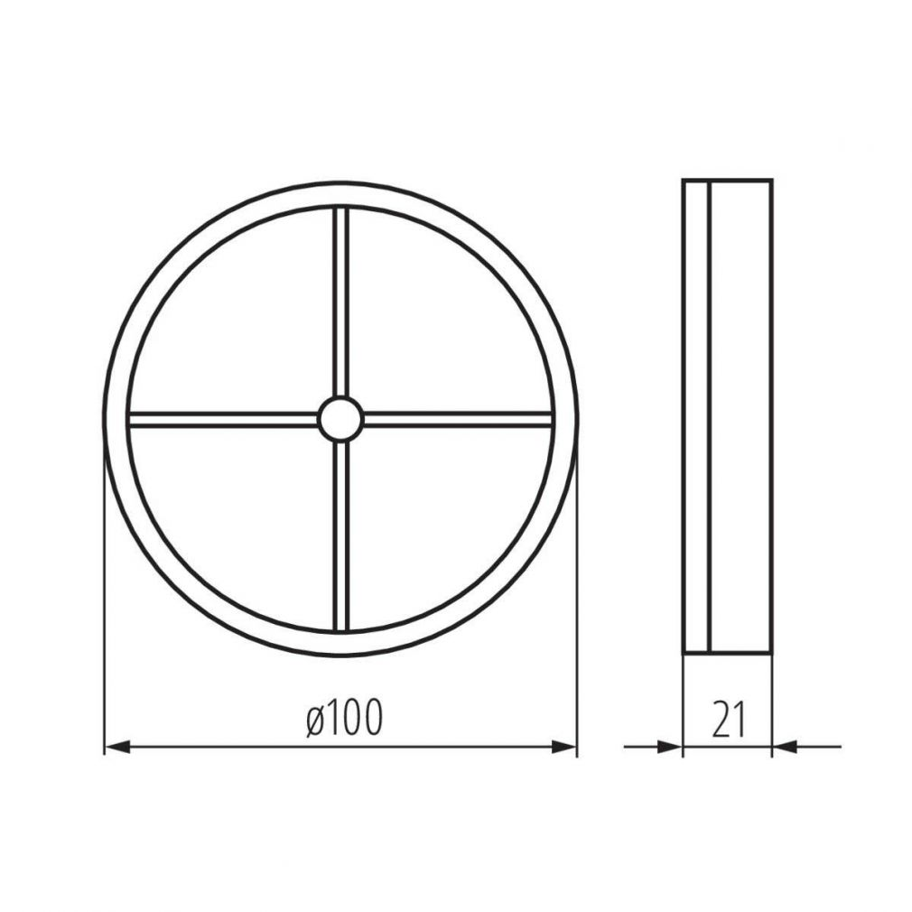 Schwerkraftklappe Rückschlagklappe 100 mm - 2