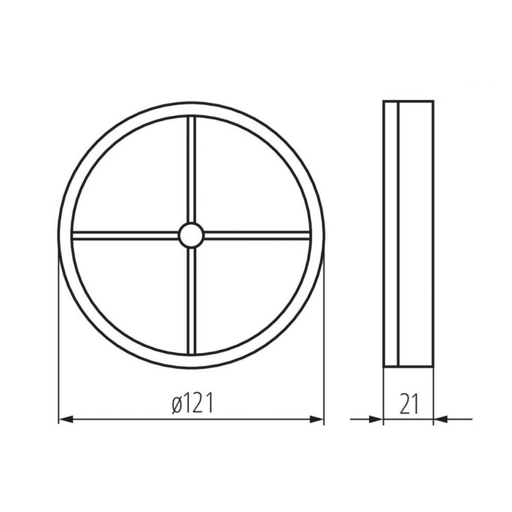 Schwerkraftklappe Rückschlagklappe 120 mm - 2
