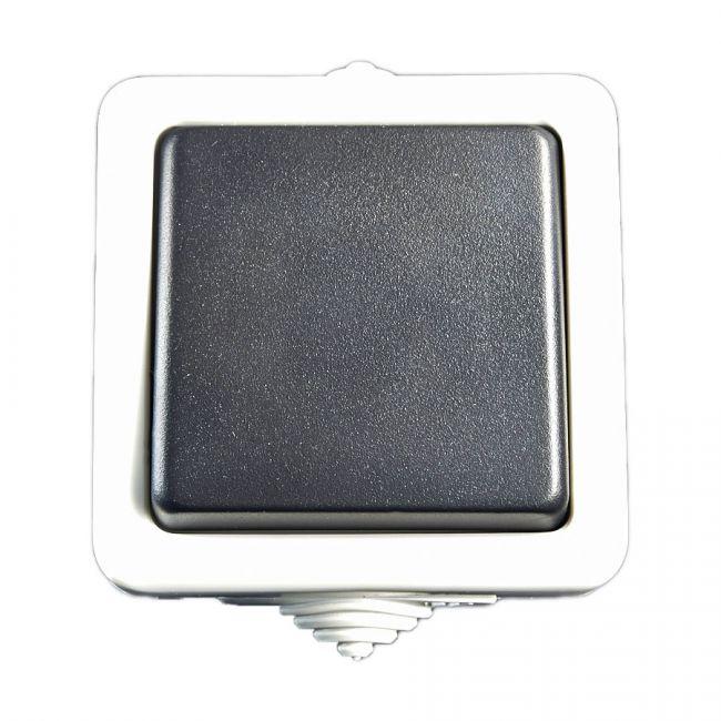 aufputz 2 wege schalter treppenschalter lichtschalter fuer feuchtraum schalter ebay. Black Bedroom Furniture Sets. Home Design Ideas