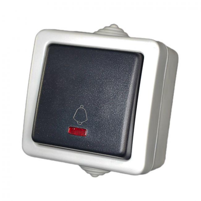 feuchtraum klingeltaster klingelschalter mit led kontroll lampe taster arnolicht. Black Bedroom Furniture Sets. Home Design Ideas