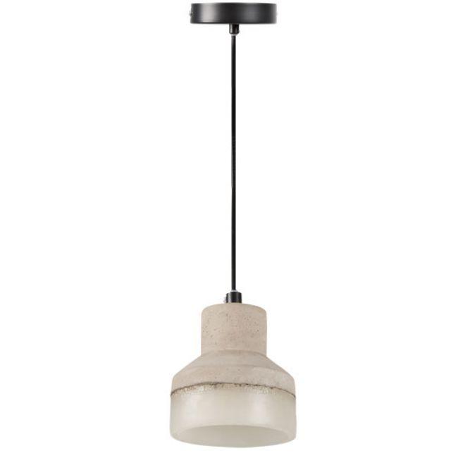 stilvolle deckenlampe leuchte betonoptik keramik e27 grau neu ebay. Black Bedroom Furniture Sets. Home Design Ideas