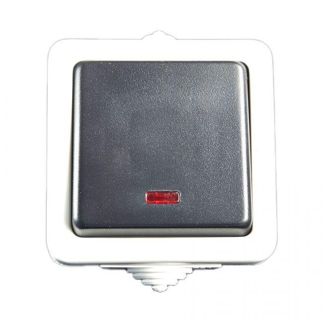 schalter treppenschalter lichtschalter aufputzschalter feuchtraum kontrollicht. Black Bedroom Furniture Sets. Home Design Ideas