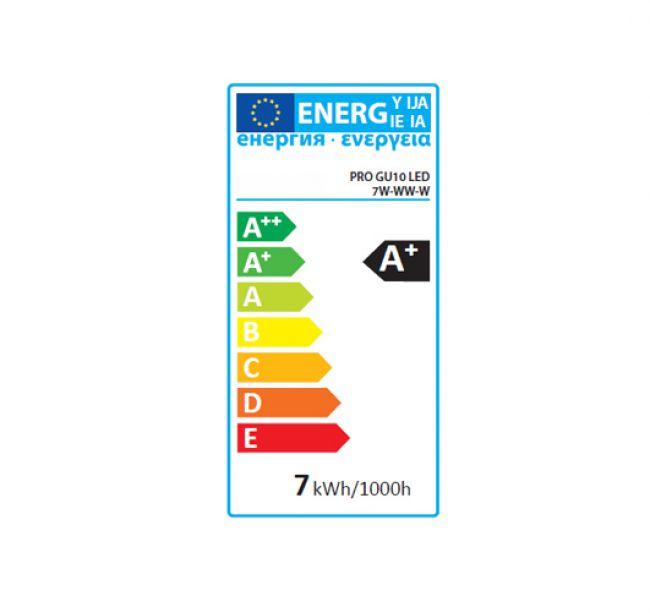 7 Watt LED Lampe LED Birne Leuchtmittel Strahler Spot weiss, GU10, warmweiss - 2