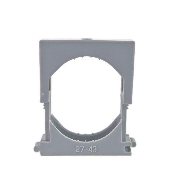 25x Reihen Druckschelle Spannbereich 27-43mm, Clipschelle, Rohrschelle, Kunststoffrohr - 2