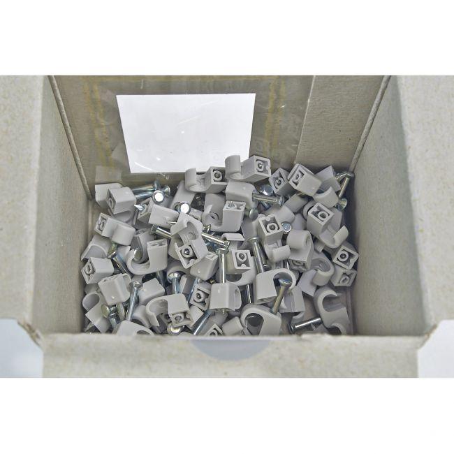 100x Nagelschelle 4-7/20mm grau, Nagelschellen, Kabelschelle - 2