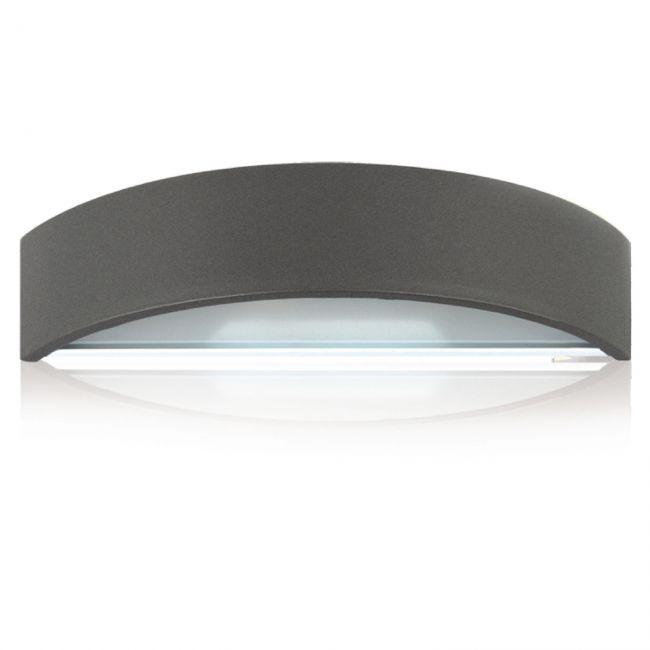 aussen halogen wandleuchte stahl dunkelgrau sockel g9 arnolicht. Black Bedroom Furniture Sets. Home Design Ideas