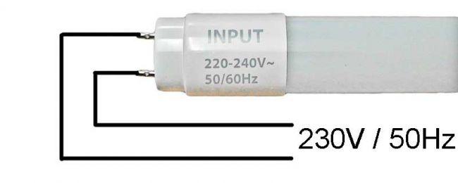 Halterung Fassung für 1x 120cm LED Röhren, LED Fassung, Leuchte für LED T8, G13 - 3