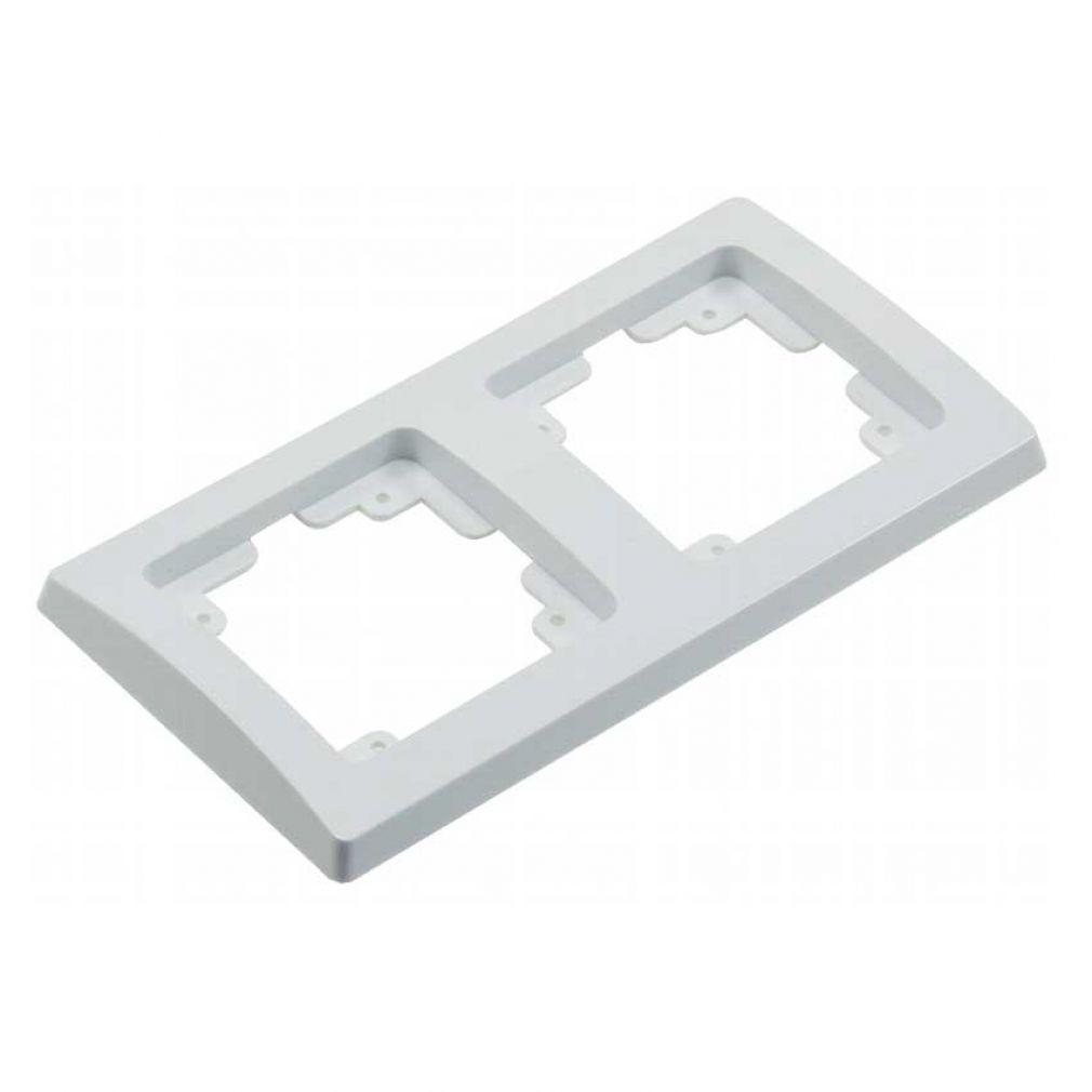 16-teiliges UP Steckdosen Starter-Kit, weiß, 8x Steckdose, 2x Schalter + versch. Rahmen - 4