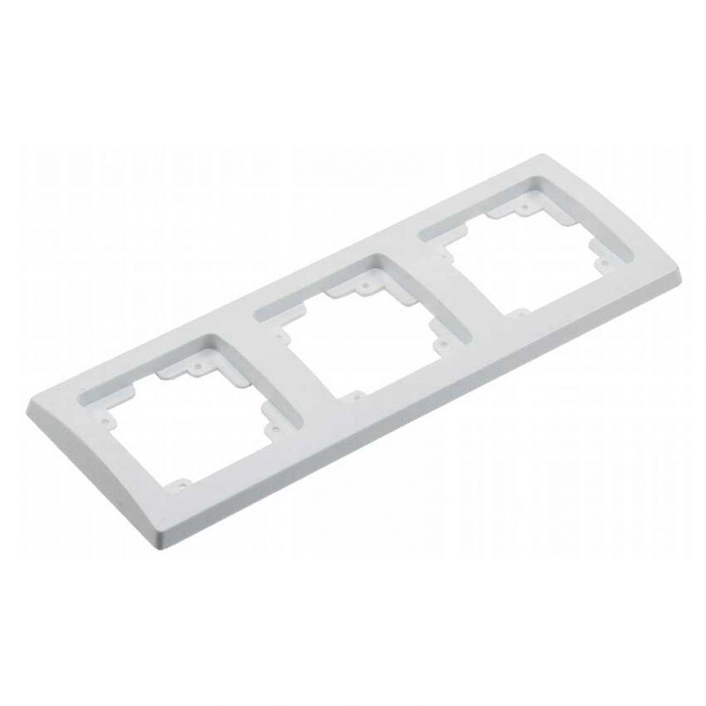 16-teiliges UP Steckdosen Starter-Kit, weiß, 8x Steckdose, 2x Schalter + versch. Rahmen - 5