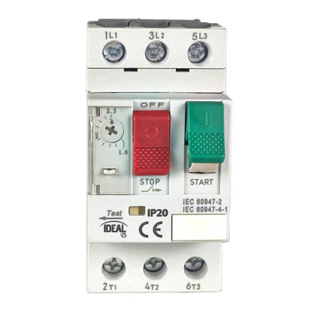 Motorschutzschalter 0,63 - 1A, Motorschalter, Hauptschalter, Schalter für Hutschiene - 3