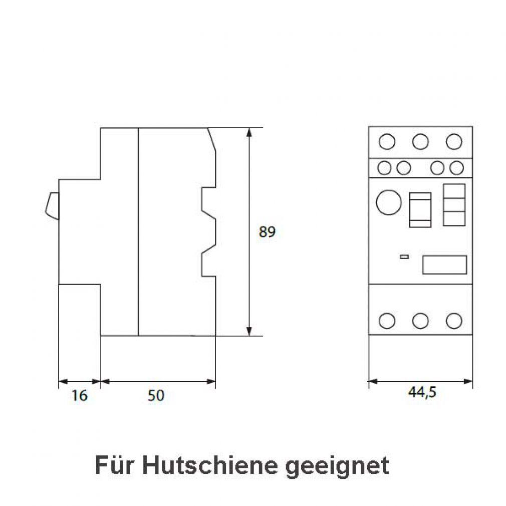 Motorschutzschalter 6,0 - 10,0A, Motorschalter, Hauptschalter, Schalter für Hutschiene - 5