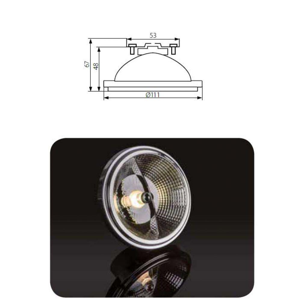 12w led lampe 12v mit reflektor ar 111 ar111 sockel g53. Black Bedroom Furniture Sets. Home Design Ideas