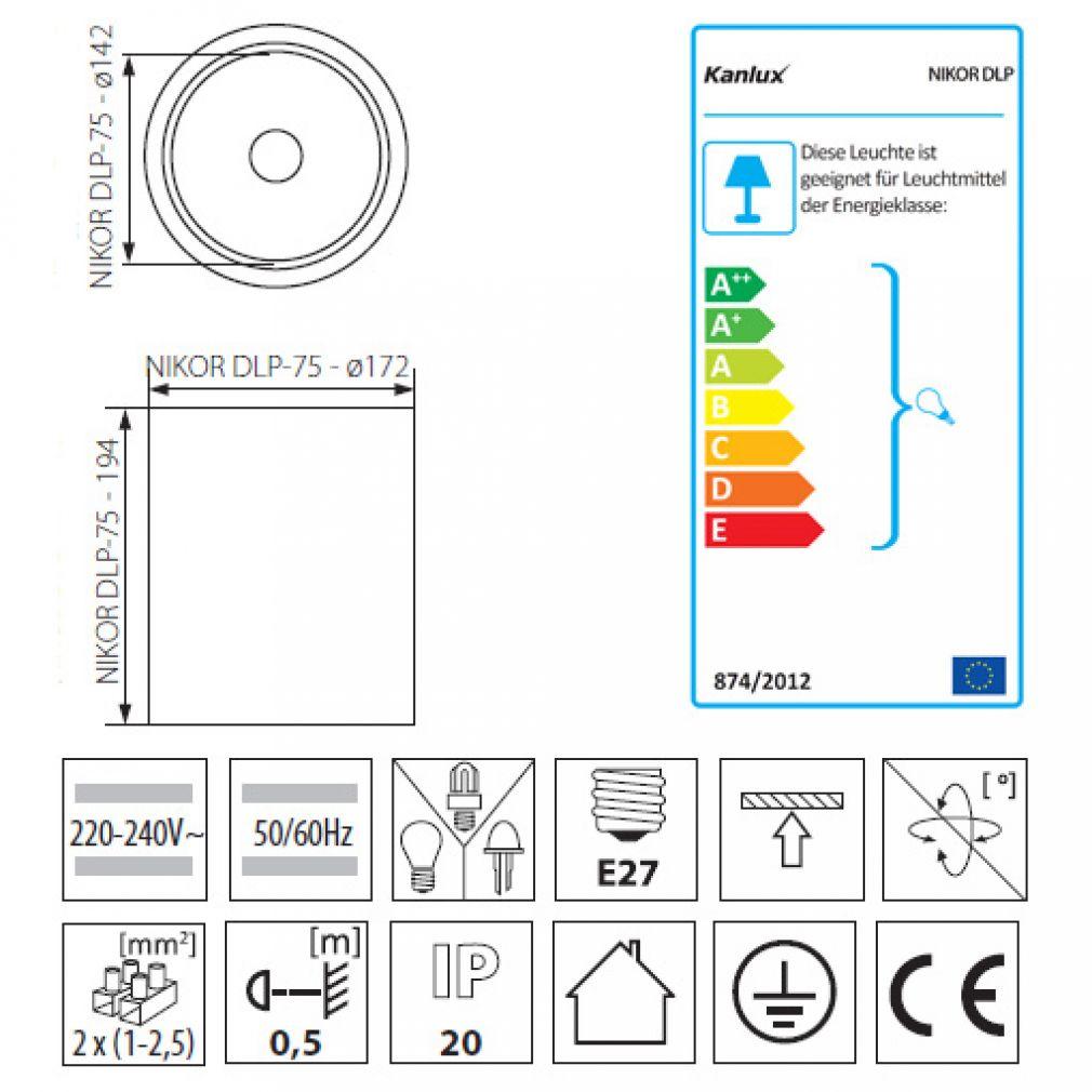 Deckenleuchte Aufbauleuchte, Deckenaufbauleuchte Deckenaufbaulampe Downlight - 2